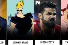 10 Cocoklogi bintang sepak bola dengan karakter kartun ini kocak abis