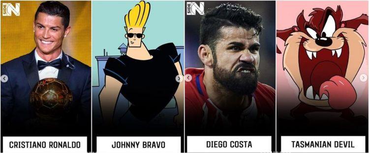 10 Cocoklogi Bintang Sepak Bola Dengan Karakter Kartun Ini Kocak
