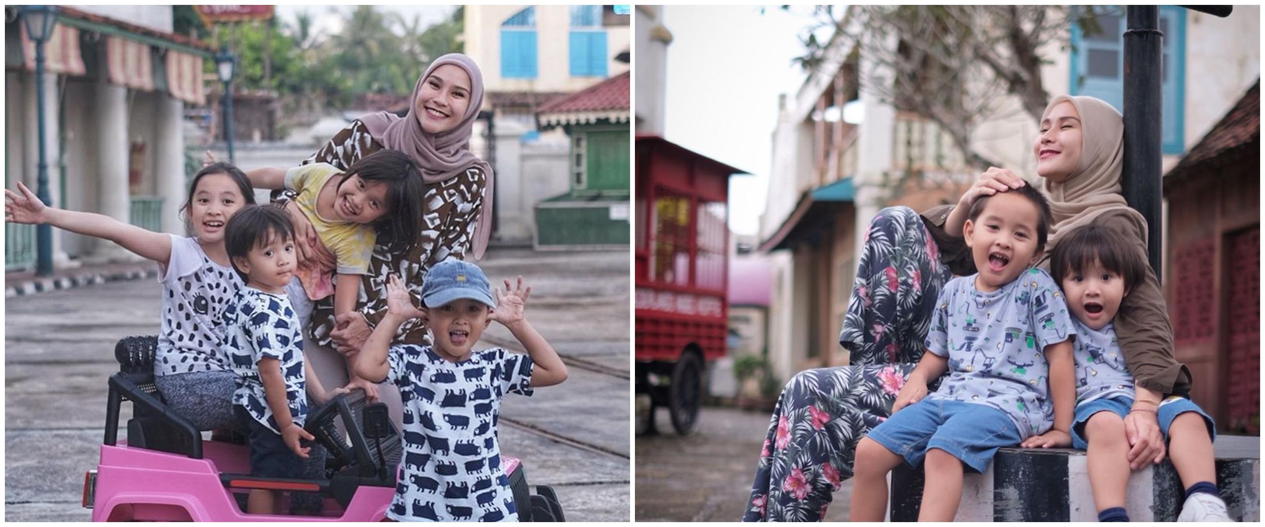 Aksi Bhre Kata tiru pose baby bump Zaskia Adya Mecca, bikin gemas