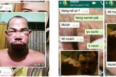 10 Chat lucu bapak-bapak kirim foto di WhatsApp, narsis abis