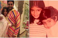 8 Potret lawas Abhishek dan Shweta Bachchan, kompak sedari dulu