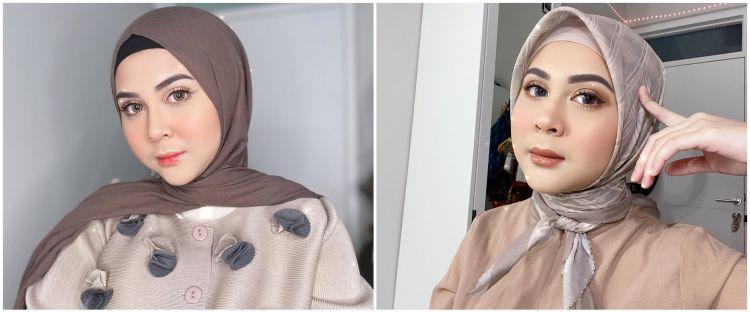 Sempat dapat kritikan, ini 7 gaya hijab stylish Kesha Ratuliu