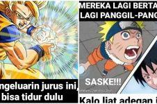 8 Meme adegan anime jadul ini lucunya bikin greget