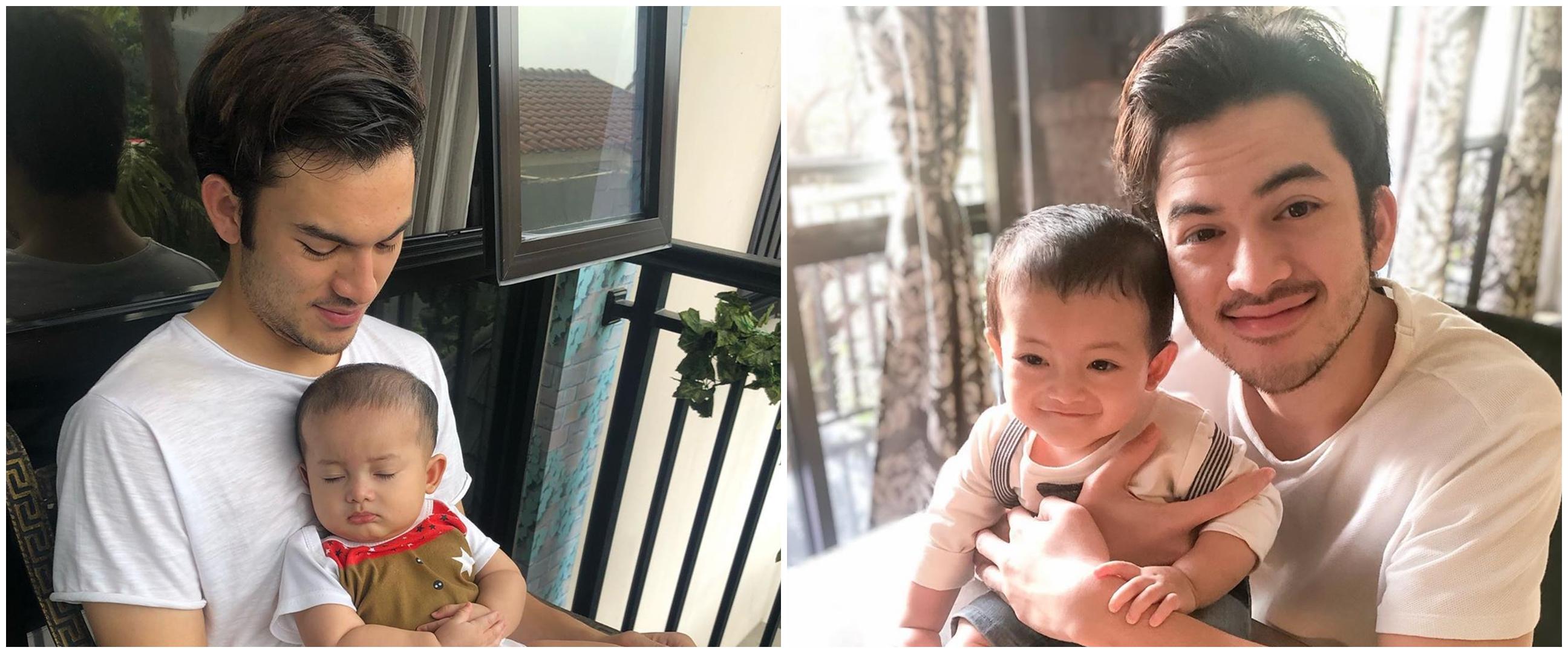 8 Foto kedekatan Rizky Nazar dengan keponakan, bak anak kandung