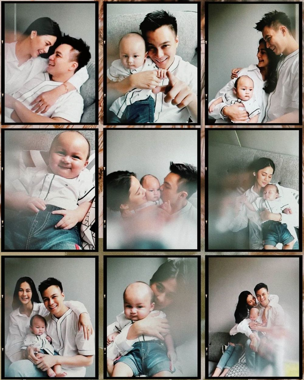Pemotretan virtual keluarga Baim Wong Instagram