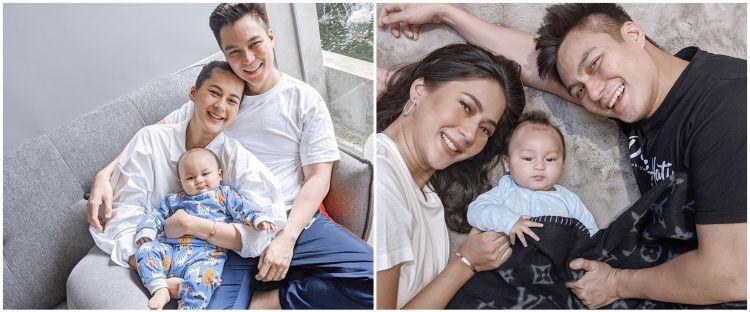 8 Pemotretan virtual keluarga Baim Wong, simpel bernuansa putih