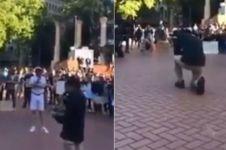 Aksi WNI turun ke tengah demonstrasi di Amerika, bikin salut