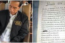 10 Ekspektasi lucu tulisan Jokowi di kertas ala warganet ini kocak