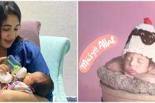11 Momen pemotretan newborn anak Tania Nadira, gayanya gemesin
