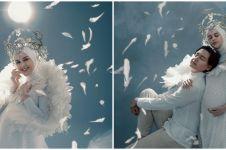 8 Potret maternity Cut Meyriska & Roger, bertema guardian angel