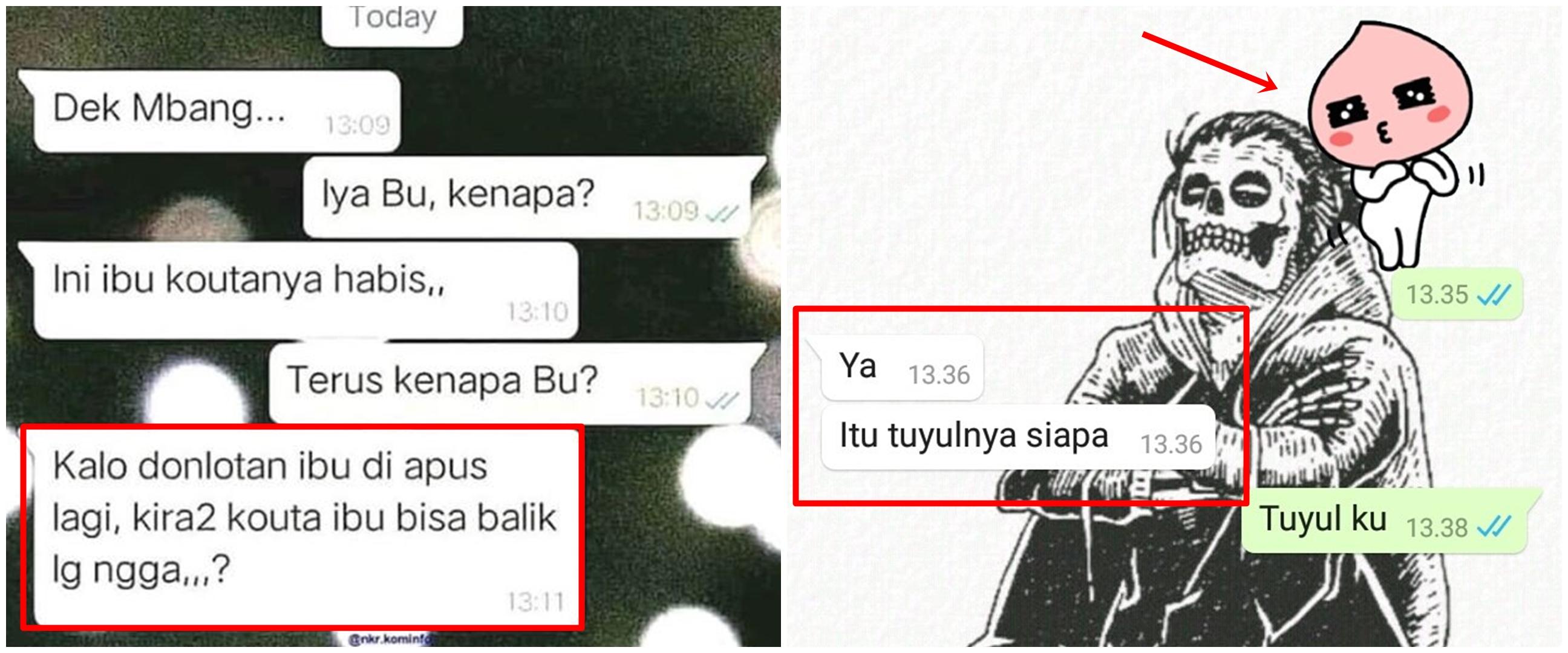 10 Chat lucu pertanyaan ibu-ibu di WhatsApp, bikin ngakak