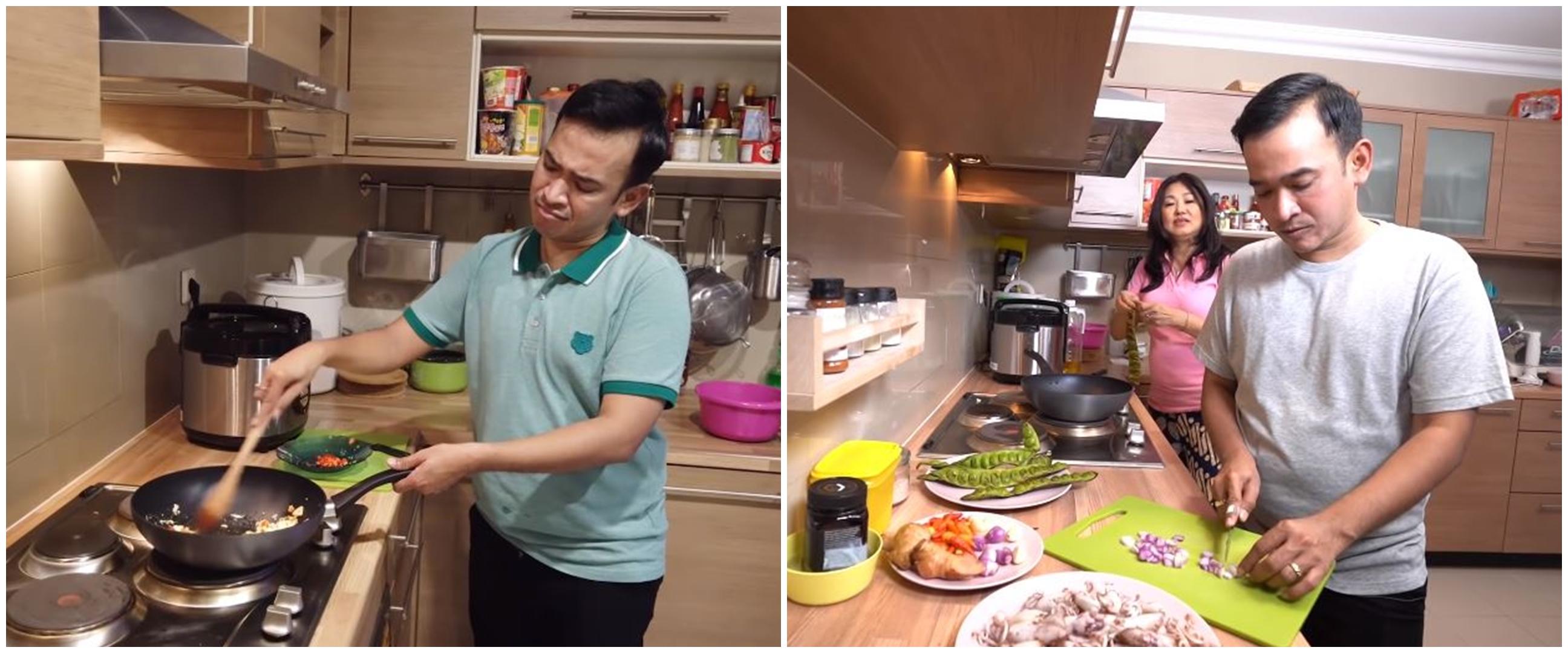 11 Potret Ruben Onsu saat lagi masak, makanannya bikin ngiler