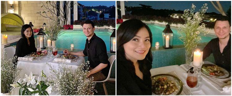 8 Momen Titi Kamal & Christian Sugiono dinner romantis di rumah