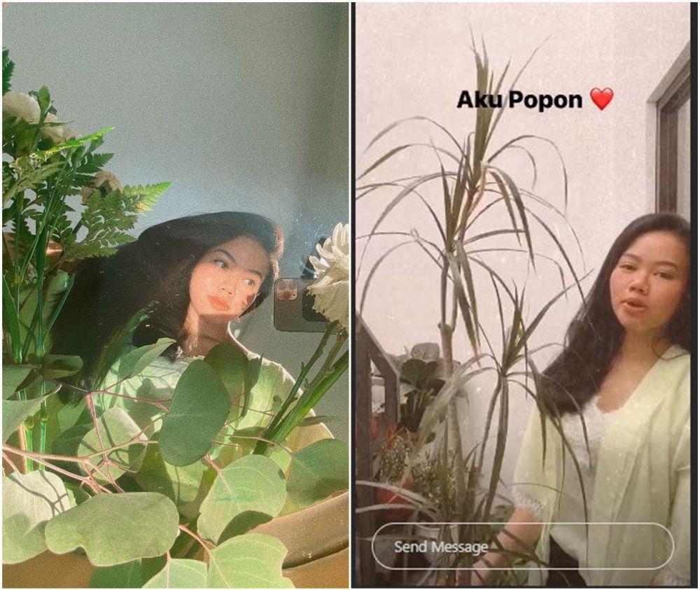 Yura Yunita lakukan mirror selfie bersama tanaman © 2020 brilio.net
