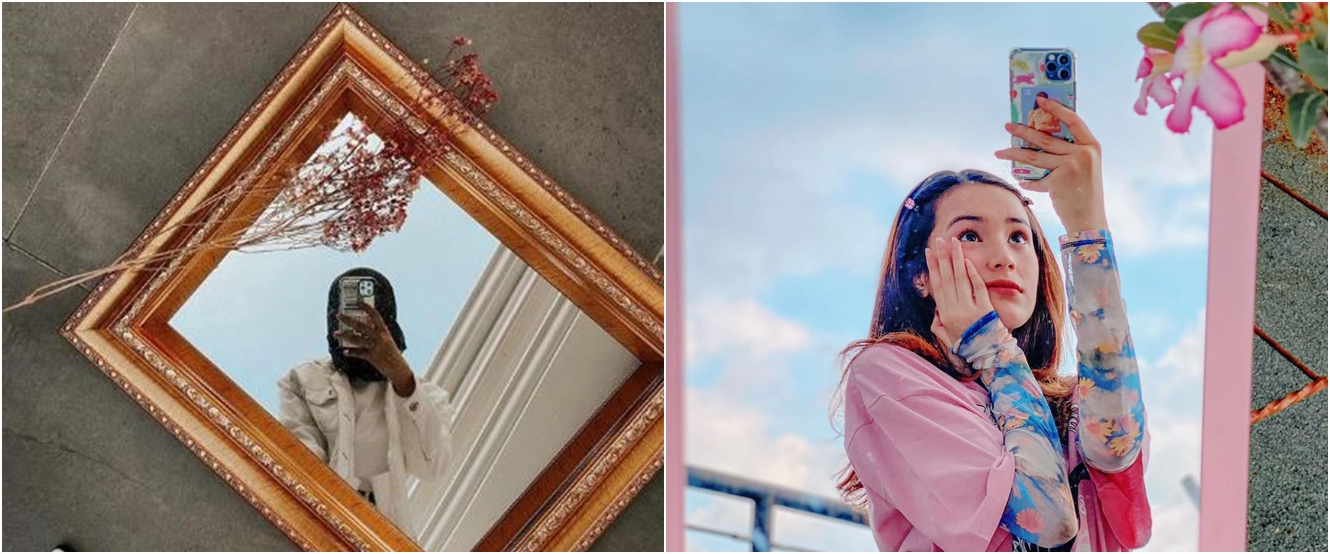 Pesona 7 seleb cantik saat outside mirror selfie, gayanya memukau