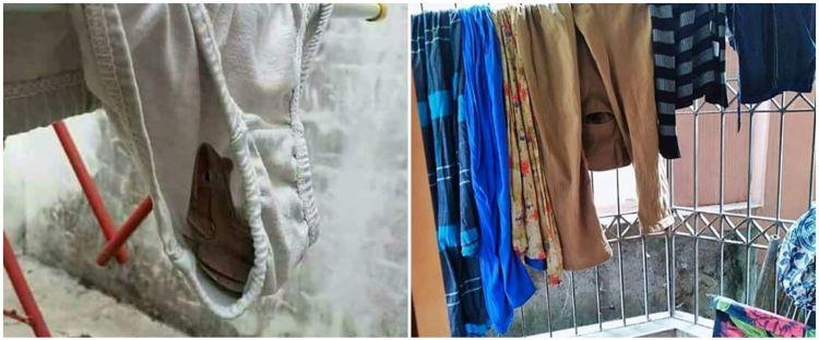 10 Momen absurd saat jemur pakaian, bikin geli sendiri
