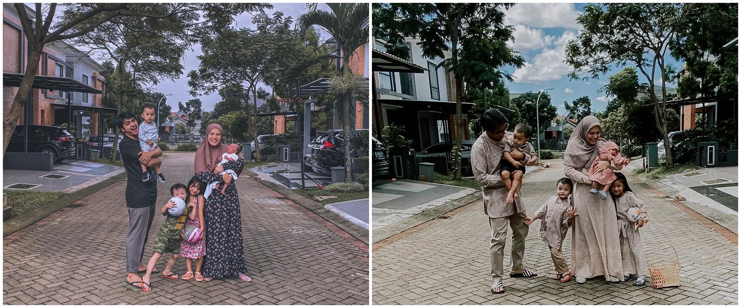 7 Tahun menikah, ini 10 potret manis Ricky Harun & keluarga kecilnya