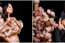7 Potret maternity Asmirandah dan Jonas tema bunga, sweet abis