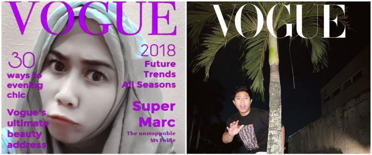 10 Potret Vogue Challenge ala warganet, kocaknya bikin nyengir