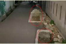 Viral 3 makam di pinggir jalan gang, ini cerita di baliknya