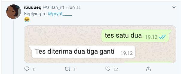 cuitan memulai chat Twitter