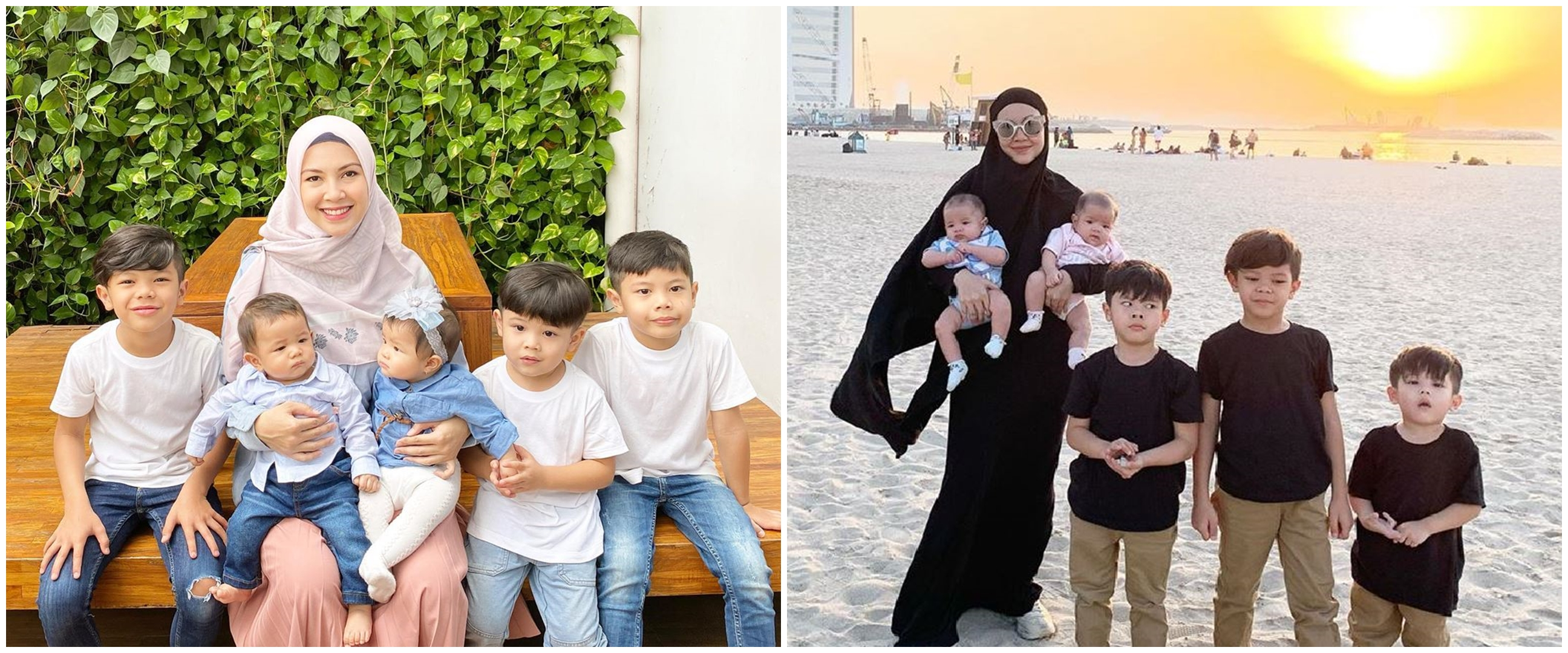 8 Potret kompak Ratna Galih dan kelima anaknya, gemes!