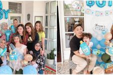 7 Momen baby shower Alessia Cestaro, nuansa biru penuh kebahagiaan