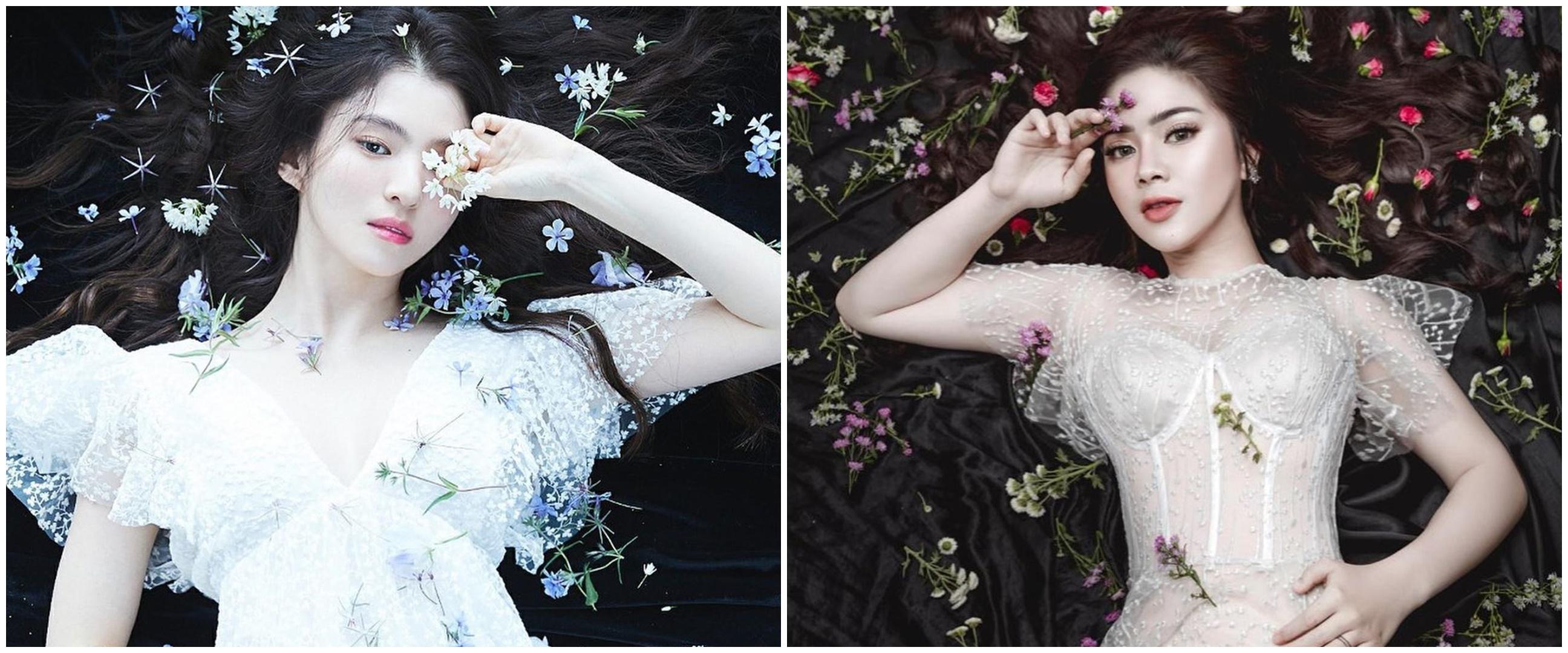 8 Momen pemotretan Felicya Angelista tiru gaya Han So-hee