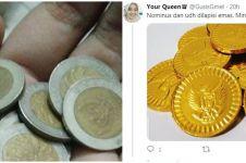 8 Cuitan lucu uang koin kelapa sawit ini bikin heran