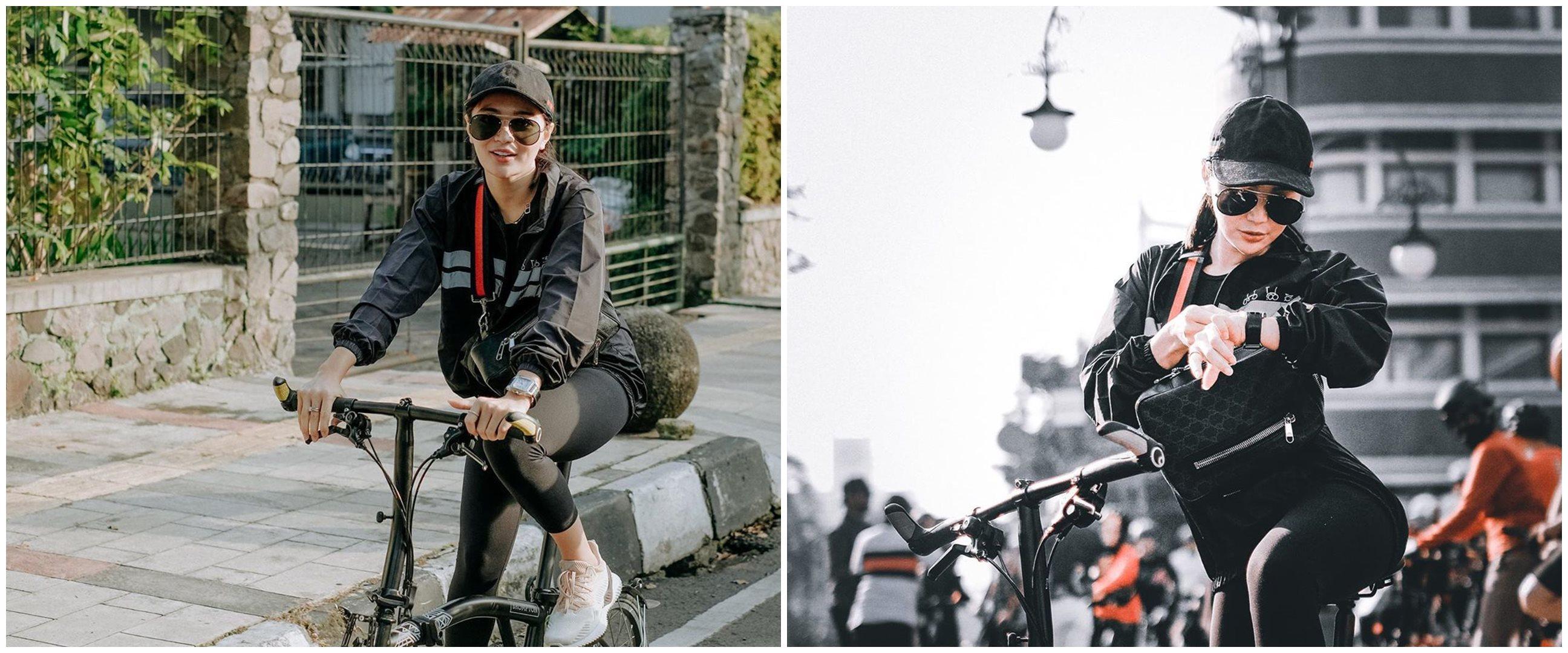Potret 7 penyanyi dangdut saat bersepeda, gayanya curi perhatian