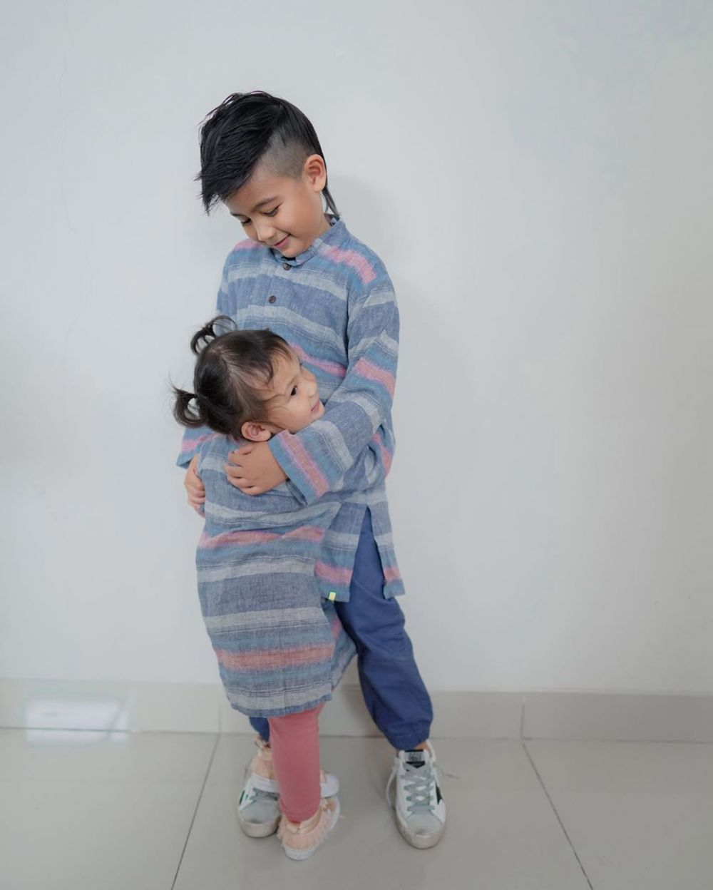 Ryshaka dan adiknya © 2020 brilio.net