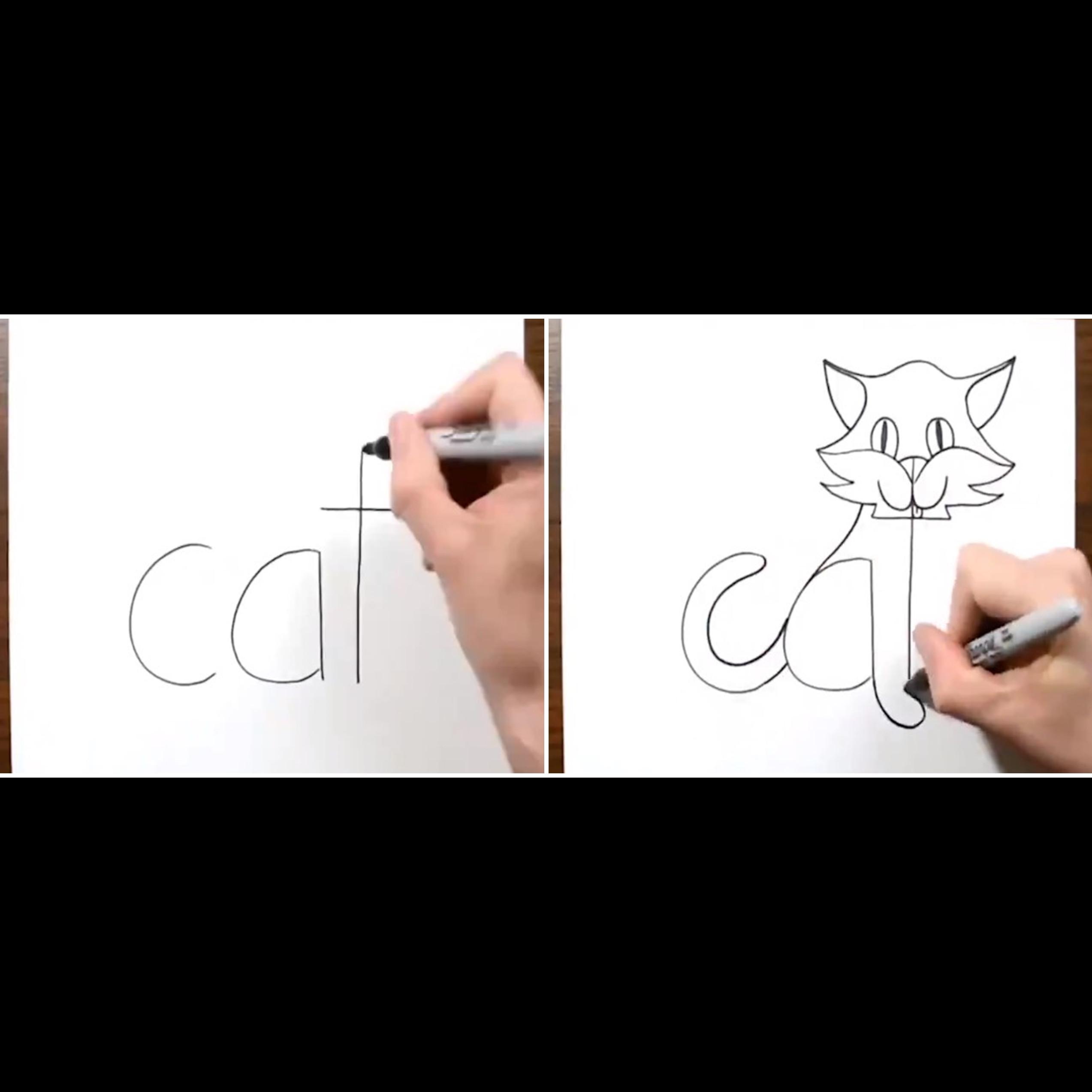 6 Gambar keren dibuat dari kerangka kata, kreatifnya bikin takjub