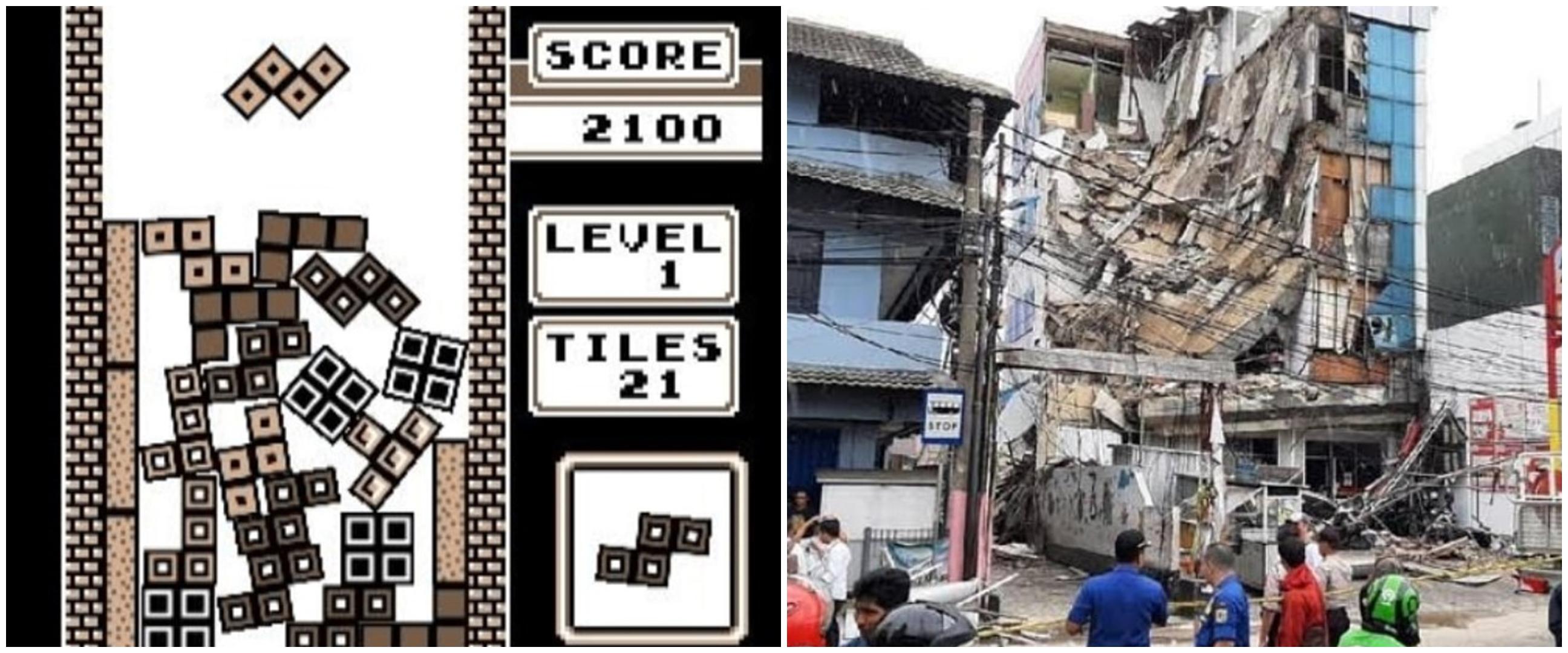 8 Cocoklogi hasil bangunan seperti bermain game, absurd