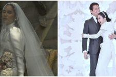 Gaya 7 seleb dengan gaun pengantin tertutup saat nikah, anggun