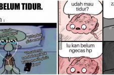 10 Meme lucu pemikiran sebelum tidur, bikin gagal ngantuk deh
