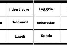 8 Meme beda bahasa Inggris dan daerah, singkat tapi kocak