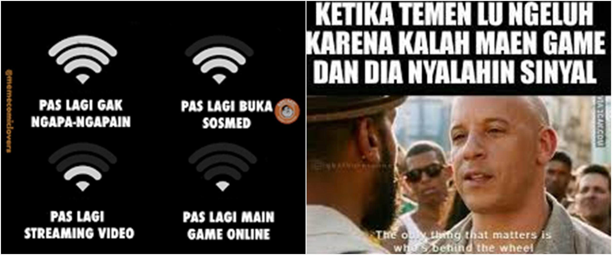 9 Meme lucu jaringan lag pas main game ini bikin tepuk jidat