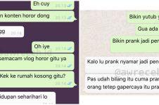 10 Chat lucu teman ngasih saran ini endingnya kocak abis