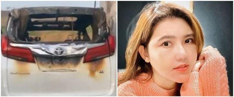 Kronologi mobil mewah Via Vallen terbakar, pelaku siram bensin