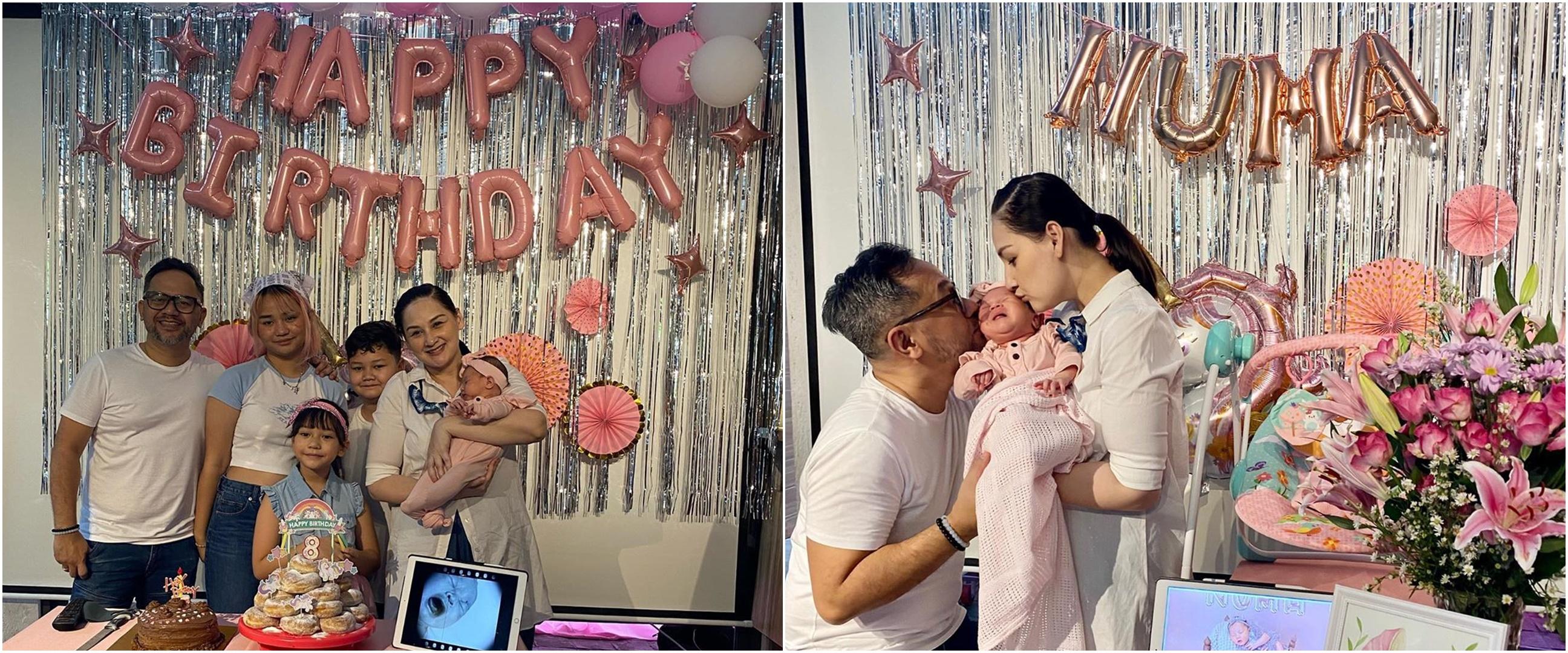 8 Momen hangat Mona Ratuliu rayakan ulang tahun & akikah anaknya
