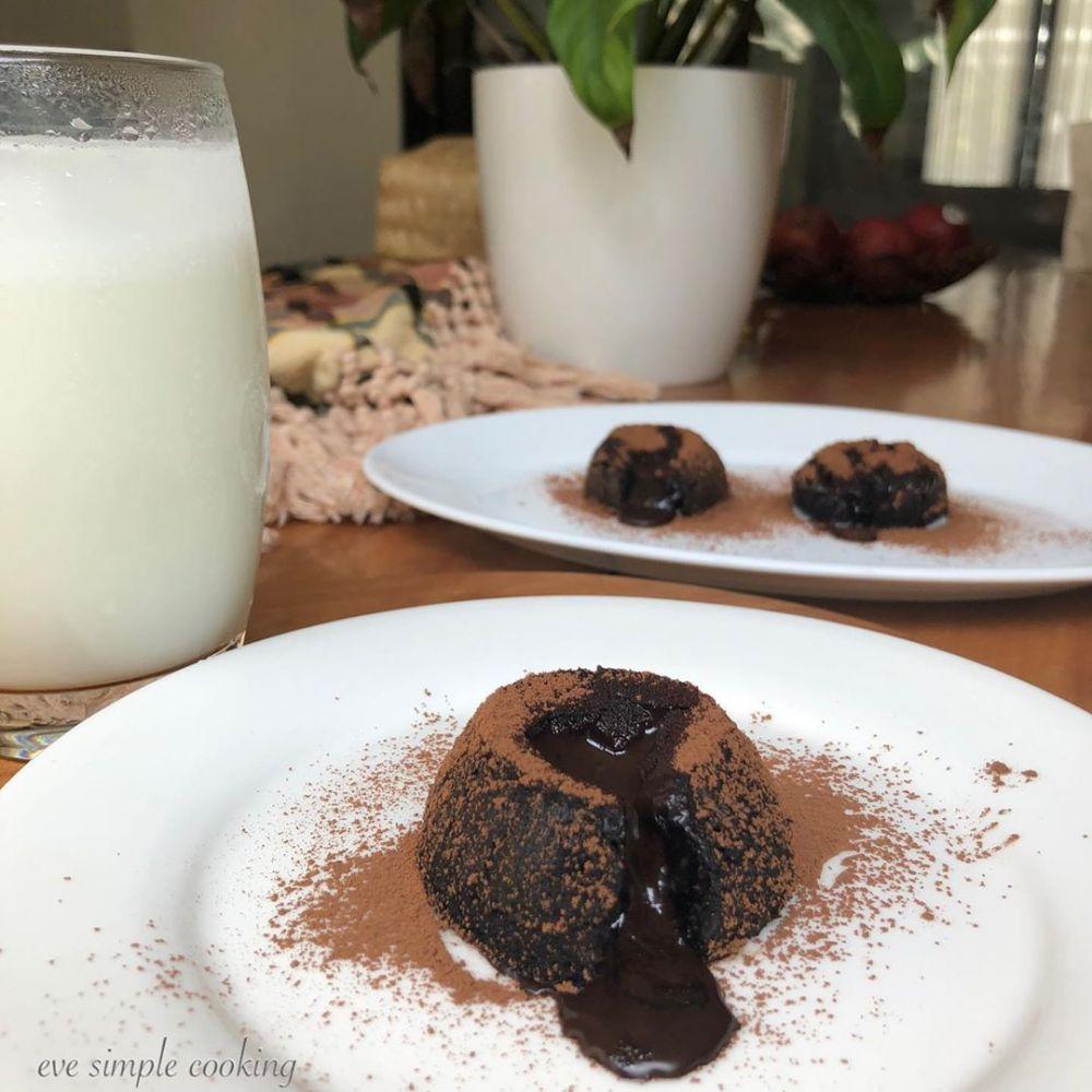 resep lava cake instagram