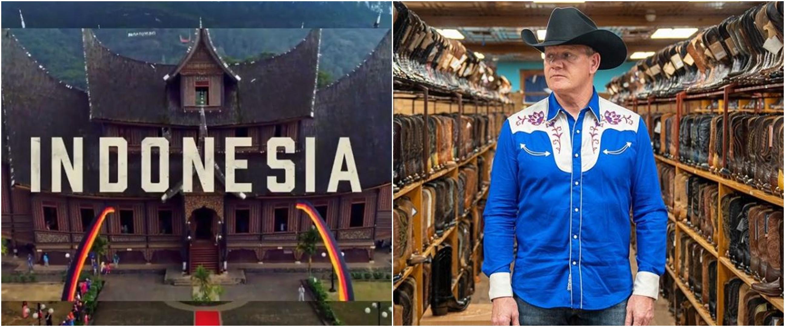 5 Momen Gordon Ramsay ke Indonesia, bikin rendang Padang