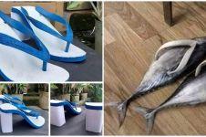 10 Ide kreatif bikin sandal jepit ini bikin pengen tepuk jidat