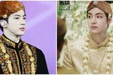 10 Foto editan personel BTS pakai baju adat Jawa, ganteng maksimal