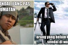 10 Meme realita kehilangan sandal ini bikin ketawa kesal