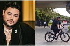 8 Momen Ivan Gunawan gowes perdana pakai sepeda baru, ngos-ngosan