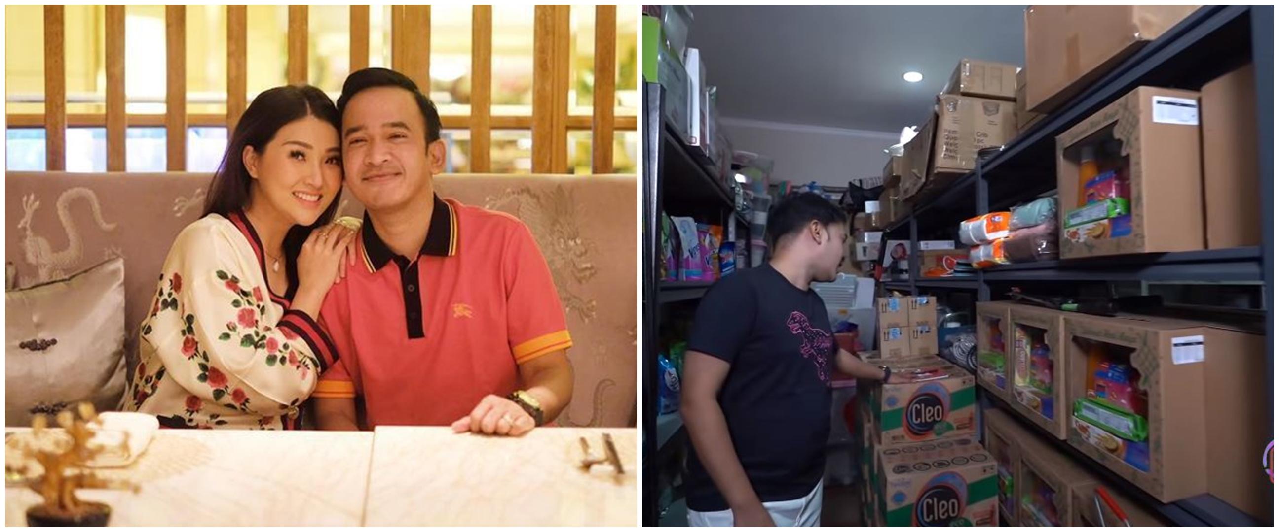 7 Penampakan 'minimarket' di rumah Ruben Onsu, isinya lengkap