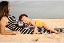 7 Potret baby bump Dahlia Poland hamil anak ketiga, cantiknya natural
