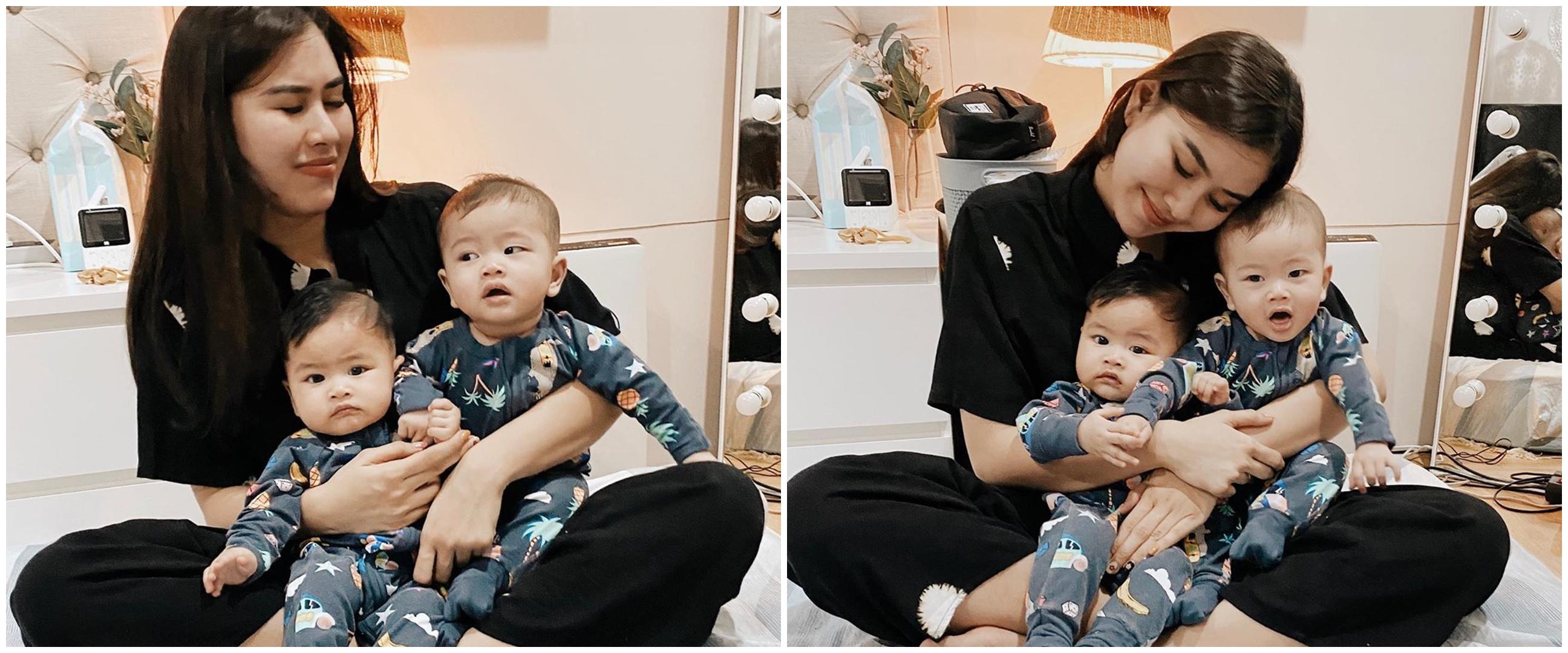 11 Momen Syahnaz urus si kembar tanpa babysitter, sempat panik