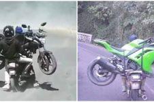 9 Potret bukti ketangguhan motor jadul, bisa angkut roda dua